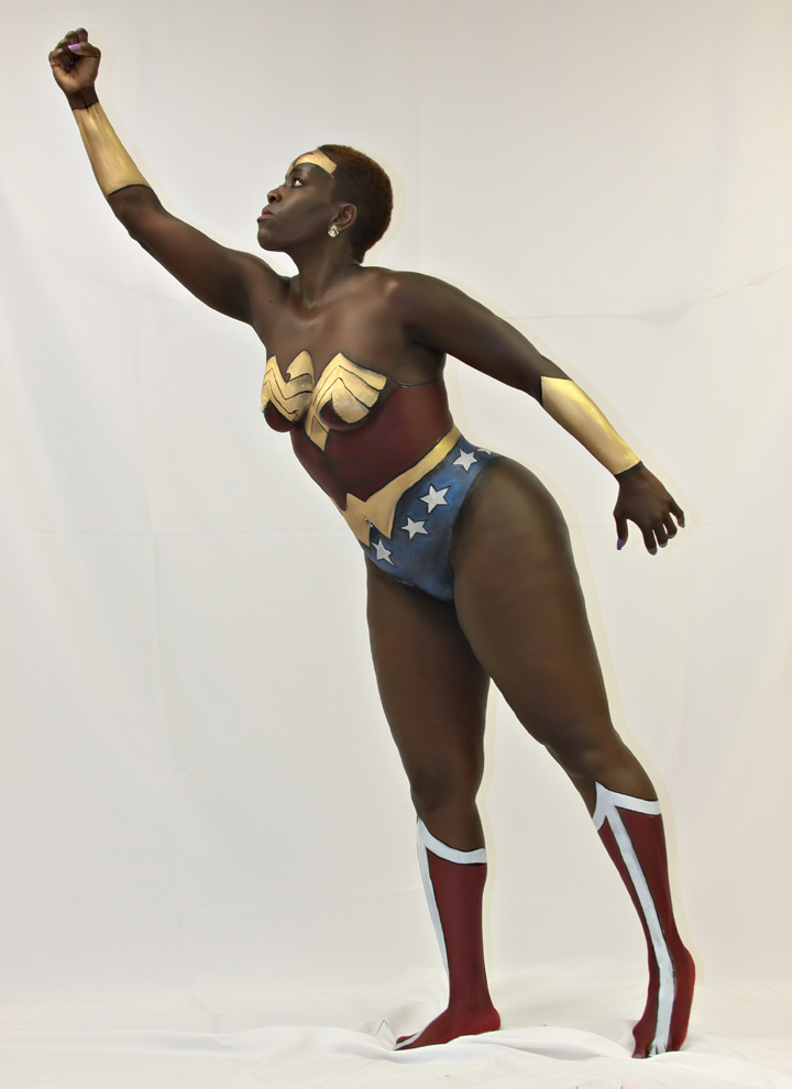 Wonder Woman Superhero Body Painting