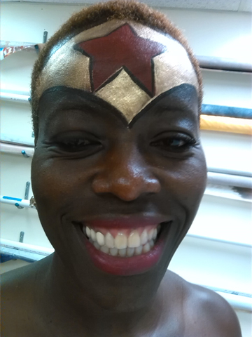 Wonder Woman Body Painting by Body Painter Tampa Florida Central Florida Body Painting